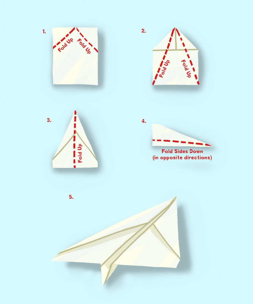 How to make a paper aeroplane Garth amp Bev