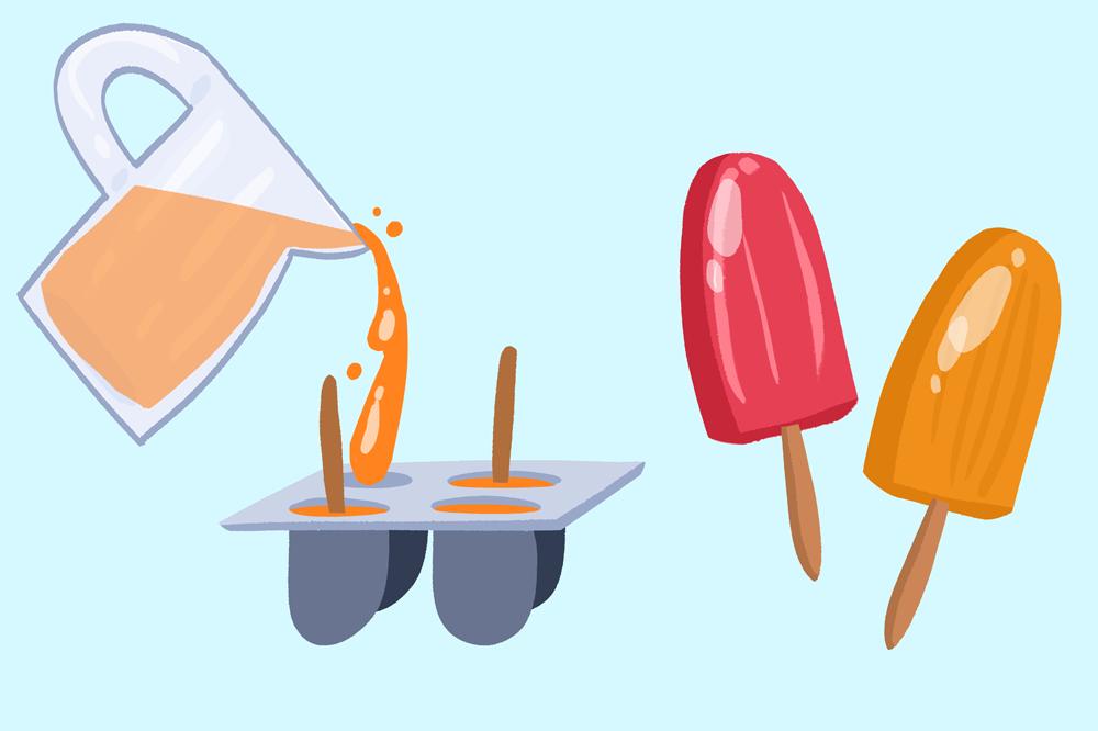 making yummy ice lollies garth bev